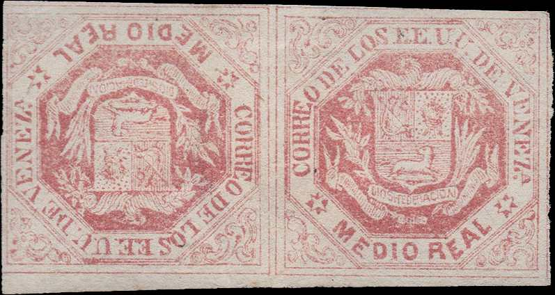 venezuela_1865_coat-of-arms_medio_real__tete-beche_postal_forgery