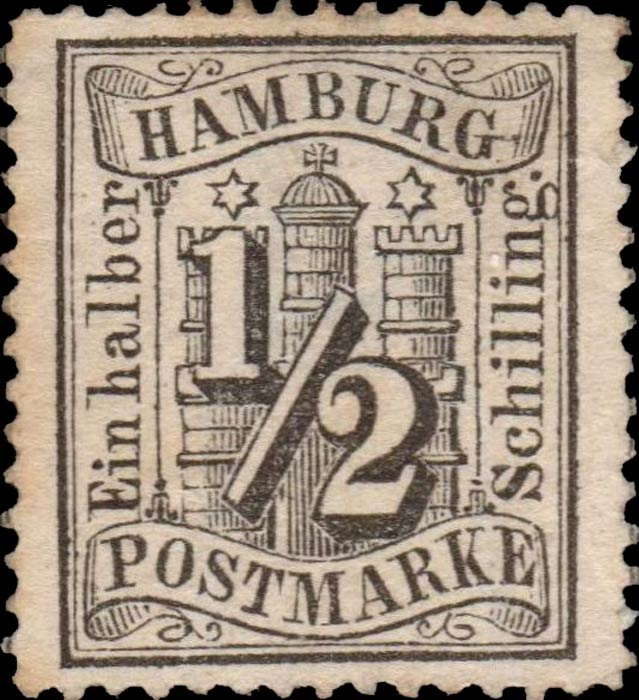 Hamburg_1864_Michel_10_Genuine