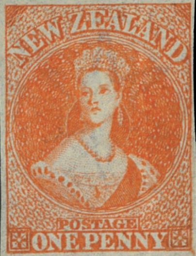 New_Zealand_1855_SG33_QV_Chalon_1p_Genuine