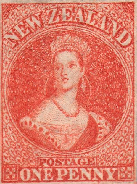 New_Zealand_1855_SG35_QV_Chalon_1p_Genuine