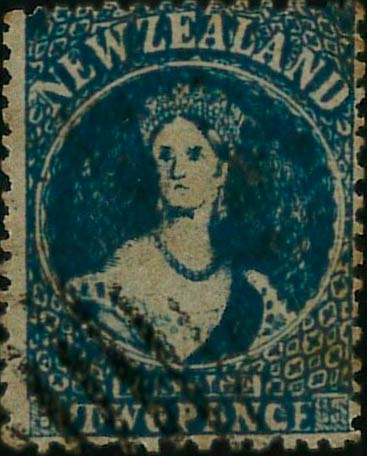 New_Zealand_1863_SG96a_QV_Chalon_2p_Forgery