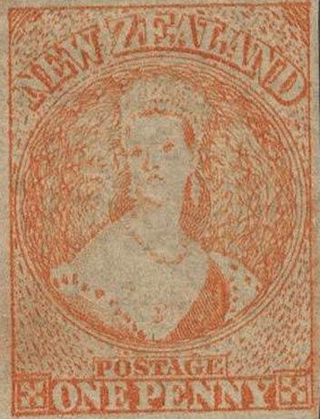 New_Zealand_1864_SG111a_QV_Chalon_1p_Reprint