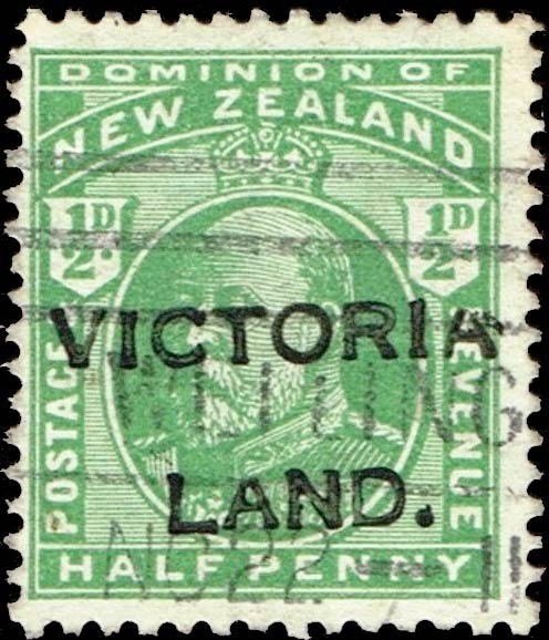 New_Zealand_1910_half-p_Victorialand_Forgery