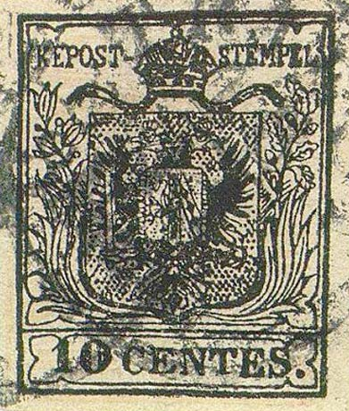 Lombardy-and-Venetia_1850_Coat-of-Arms_10c_Forgery1