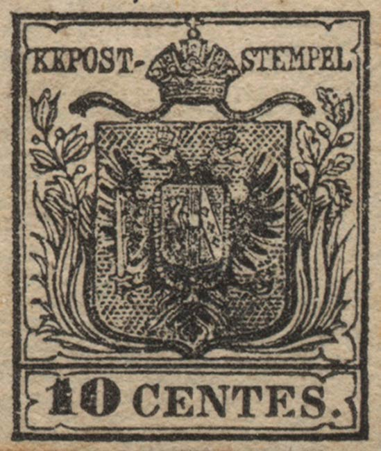 Lombardy-and-Venetia_1850_Coat-of-Arms_10c_Genuine
