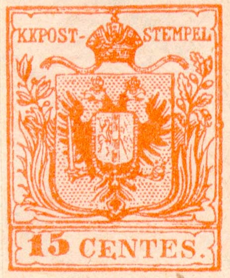 Lombardy-and-Venetia_1850_Coat-of-Arms_15c_Fournier_Forgery