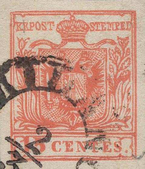 Lombardy-and-Venetia_1850_Coat-of-Arms_15c_Milan_Postal_Forgery