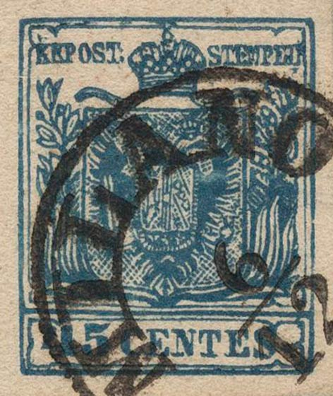 Lombardy-and-Venetia_1850_Coat-of-Arms_45c_Milan_Postal_Forgery_Type_VI