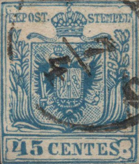 Lombardy-and-Venetia_1857_Coat-of-Arms_45c_Milan_Postal_Forgery_Type_II