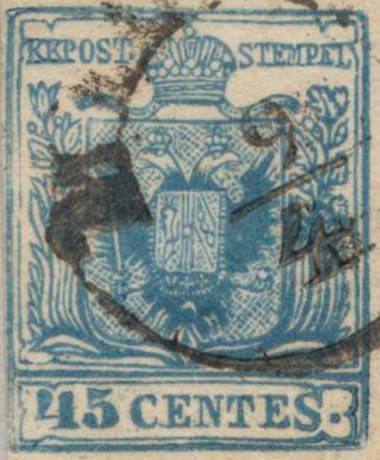 Lombardy-and-Venetia_1857_Coat-of-Arms_45c_Milan_Postal_Forgery_Type_IV
