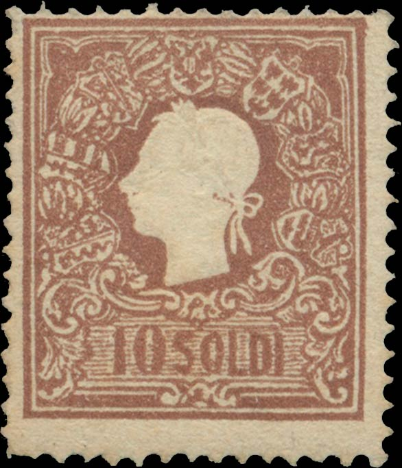Lombardy-and-Venetia_1858_Franz_Joseph_10s_Type-II_Genuine