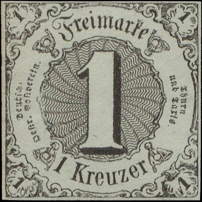 Thurn_und_Taxis_1852_Mi7a_1Kr_Genuine