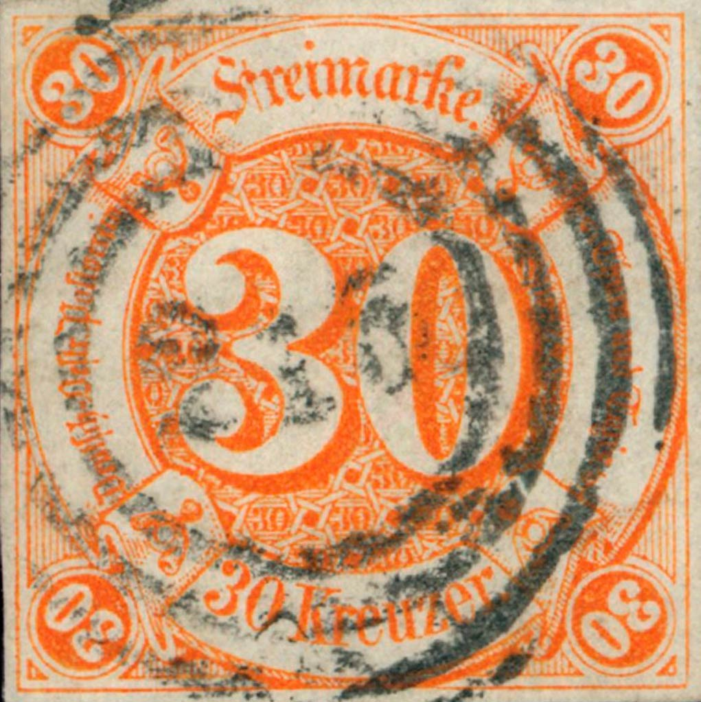 Thurn_und_Taxis_1859_Mi25_30Kr_Genuine