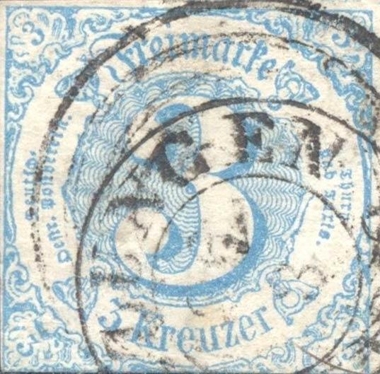 Thurn_und_Taxis_1860_Mi21_3Kr_Genuine