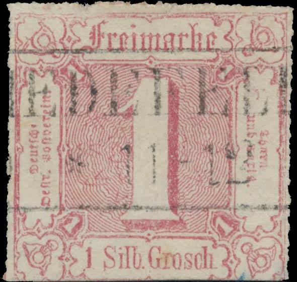 Thurn_und_Taxis_1865_Mi38_1Sgr_Genuine