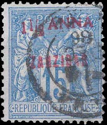 Zanzibar_French_15c_Bogus_Overprint