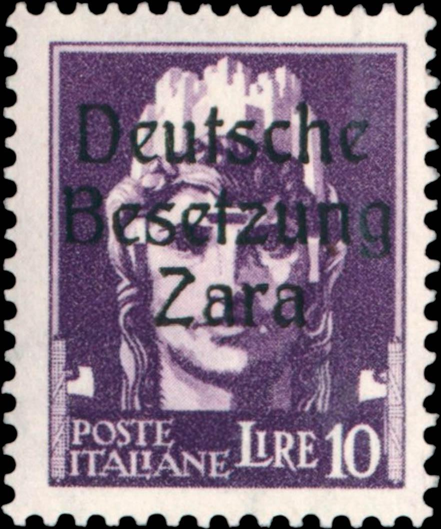 Zara_1943_Mi-16_Deutsche_Besetzung_10l_Type_1_Geunine