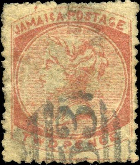 Jamaica_1860_Queen_Victoria_2p_Forgery