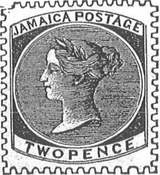 Jamaica_1860_Queen_Victoria_2p_Torres_illustration