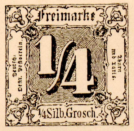 Thurn_und_Taxis_1852_Mi1_1-4Sgr_Fournier_Forgery