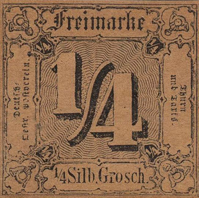 Thurn_und_Taxis_1852_Mi1_1-4Sgr_Genuine
