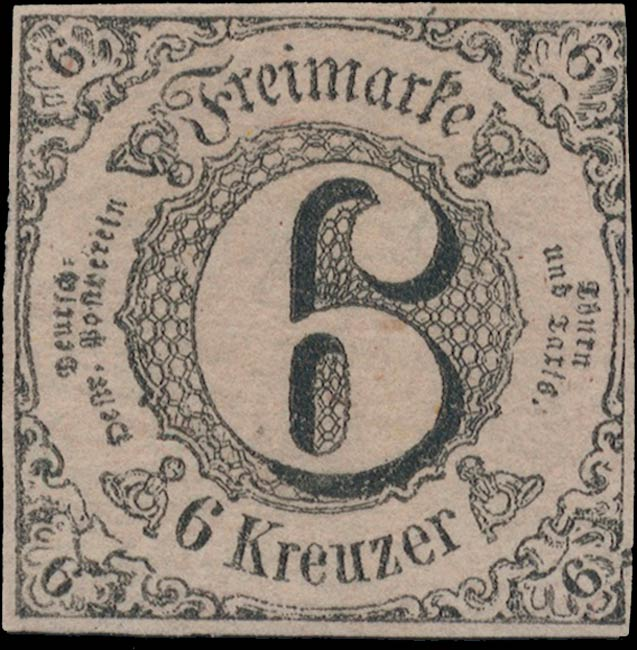 Thurn_und_Taxis_1852_Mi9_6Kr_Genuine