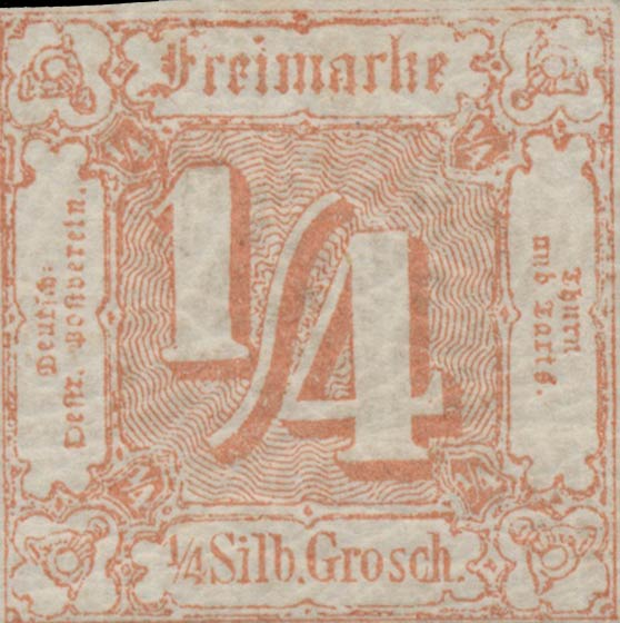 Thurn_und_Taxis_1859_Mi13_1-4Sgr_Genuine