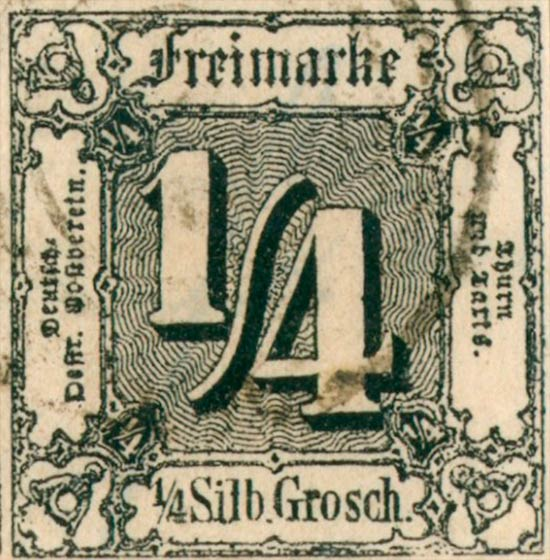 Thurn_und_Taxis_1862_Mi26_1-4Sgr_Genuine