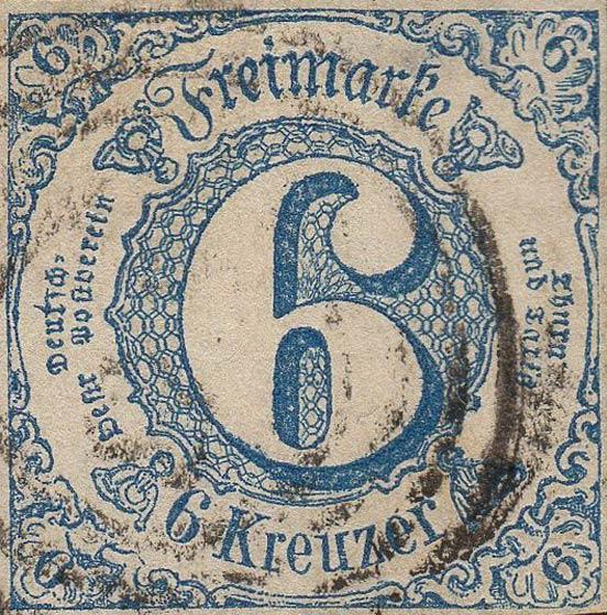 Thurn_und_Taxis_1862_Mi33_6Kr_Genuine