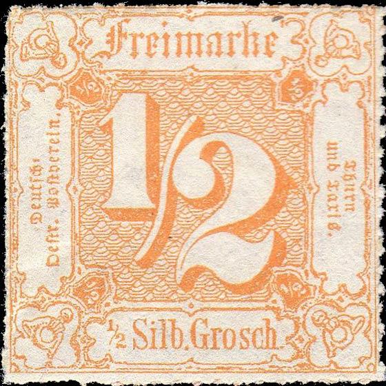 Thurn_und_Taxis_1865_Mi37_1-2Sgr_Genuine