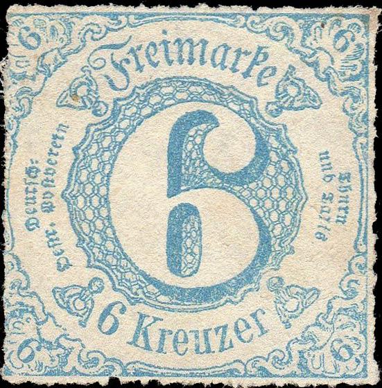 Thurn_und_Taxis_1865_Mi43_6Kr_Genuine