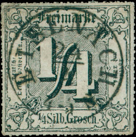Thurn_und_Taxis_1866_Mi45_1-4Sgr_Genuine