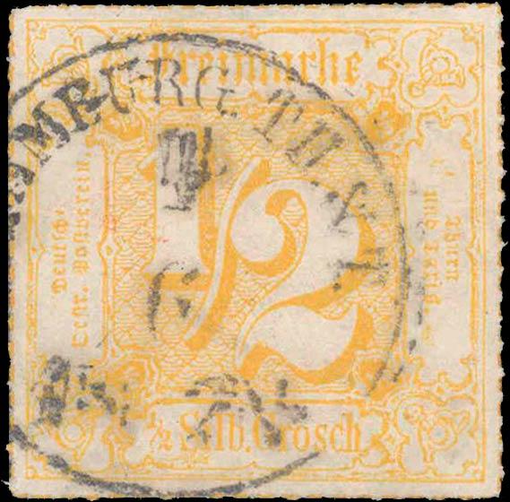 Thurn_und_Taxis_1867_Mi47_1-2Sgr_Genuine