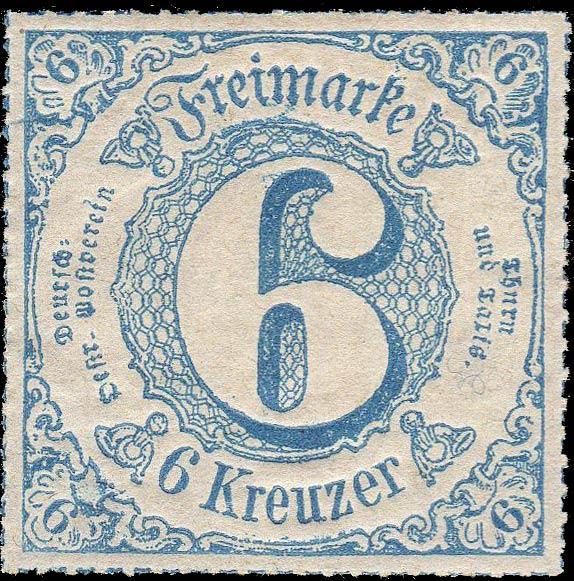 Thurn_und_Taxis_1867_Mi53_6Kr_Genuine