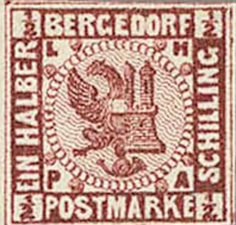 Bergedorf_1_1861_Brown_Proof