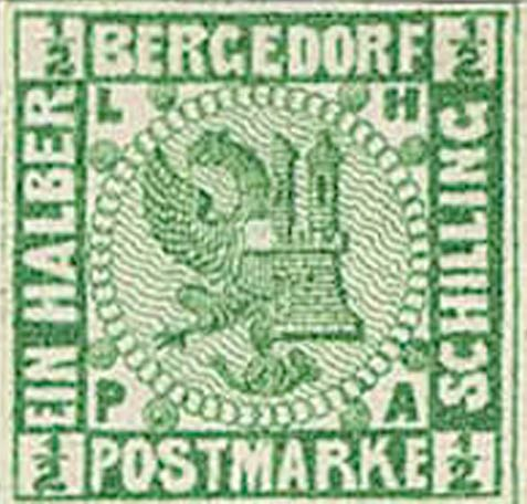 Bergedorf_1_1861_Green_Proof