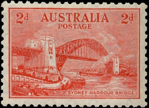 Australia_1932_Sydney-Harbor-Bridge_2d_Genuine