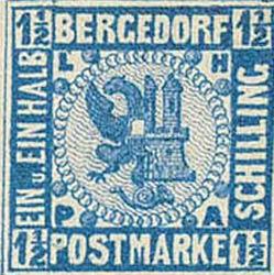 Bergedorf_1861_1.5Schilling_Blue_Essay_Genuine