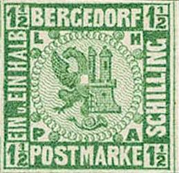 Bergedorf_1861_1.5Schilling_Green_Essay_Genuine