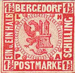 Bergedorf_1861_1.5Schilling_Red_Essay_Genuine