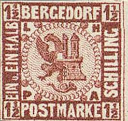 Bergedorf_1861_1.5Schilling_Redbrown_Essay_Genuine