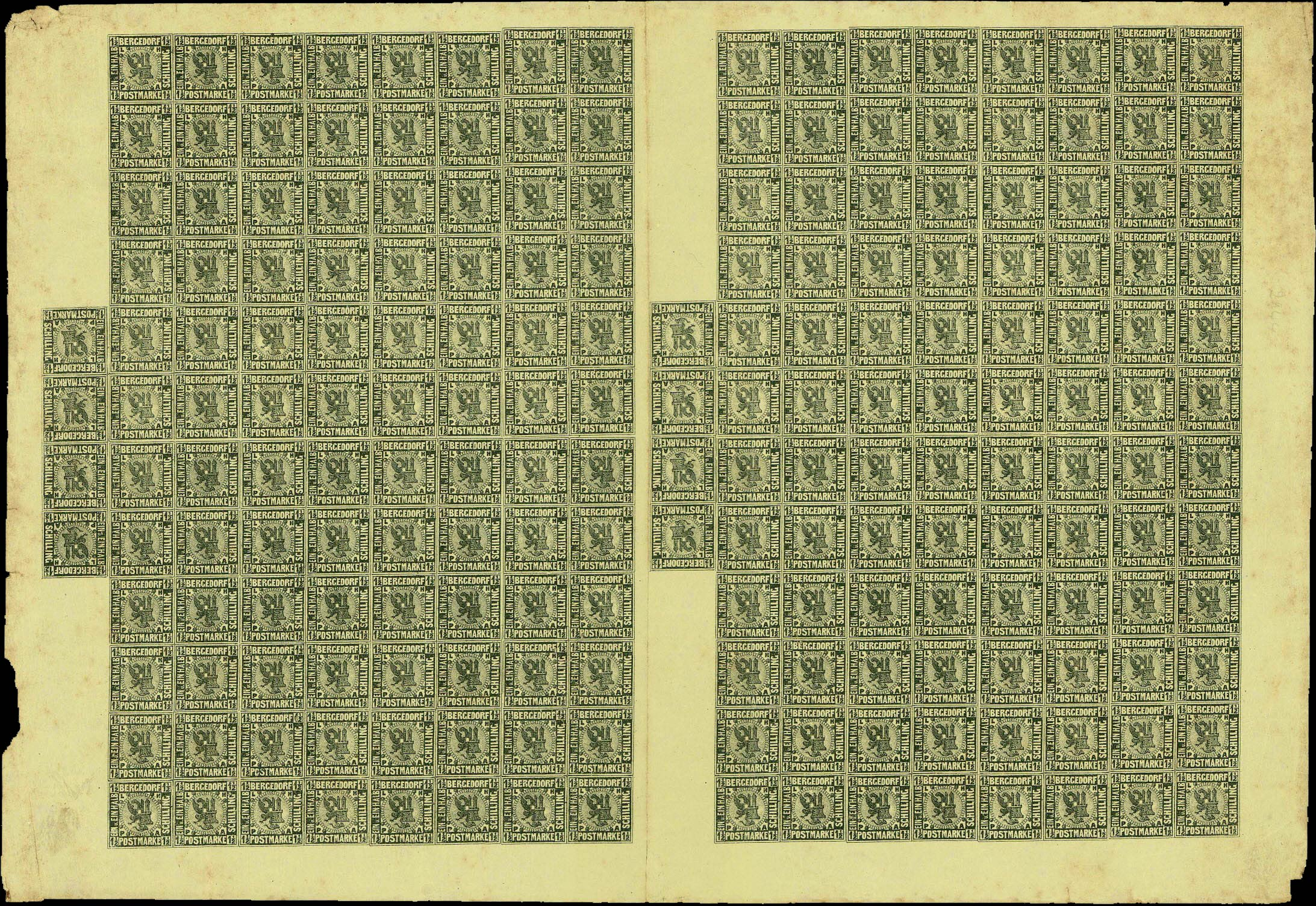 Bergedorf_1861_1.5Schilling_Sheet_Genuine