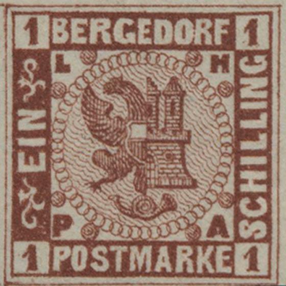 Bergedorf_1861_1sch_Redbrown-Essay_Genuine