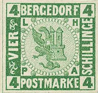 Bergedorf_1861_4Schillinge_Green_Essay_Genuine