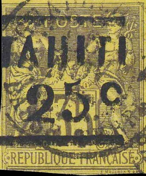 Tahiti_1882_25c-on-35c_Forgery