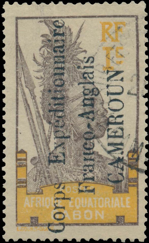 Cameroun_1915_French_Occupation_Corps_Expeditionaire_Franco-Anglais_CAMEROUN_1c_Genuine
