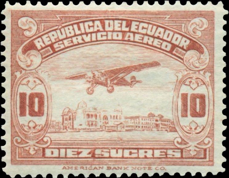 Ecuador_1929_Airmail_10s_Forgery