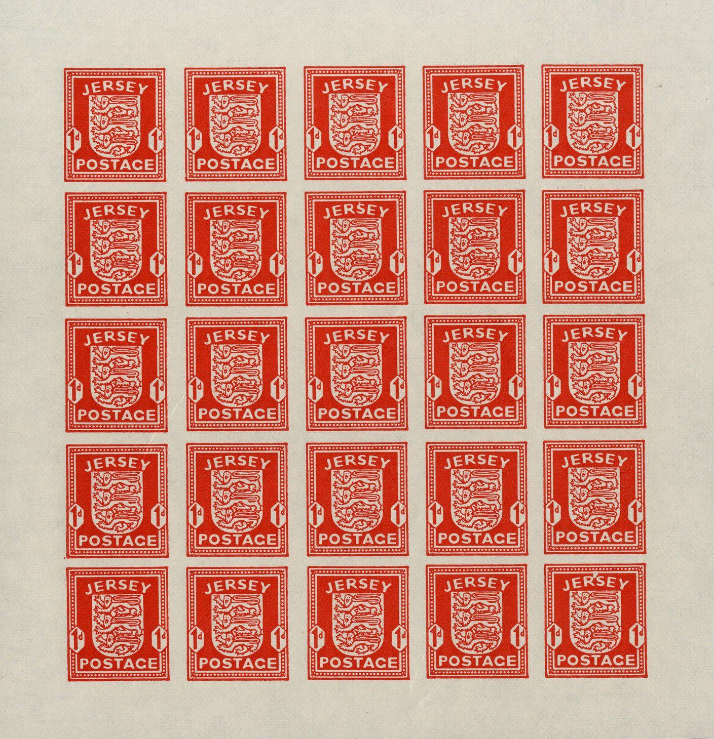 Jersey_1941_1d_Sheet_Forgery