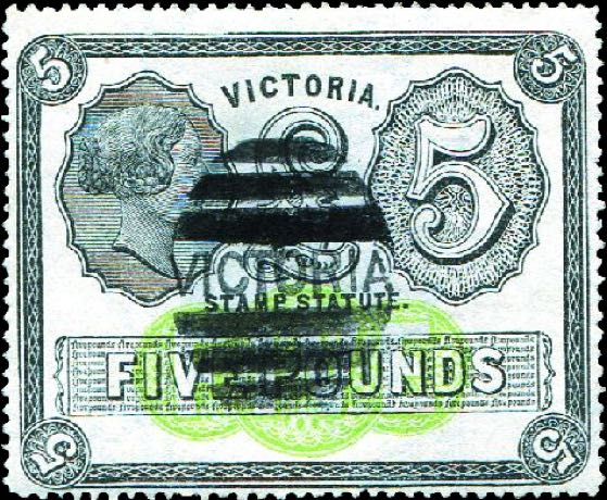 Victoria_1870_Stamp_Duty_5pounds_Forgery