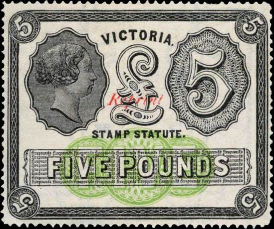 Victoria_1870_Stamp_Duty_5pounds_Reprint